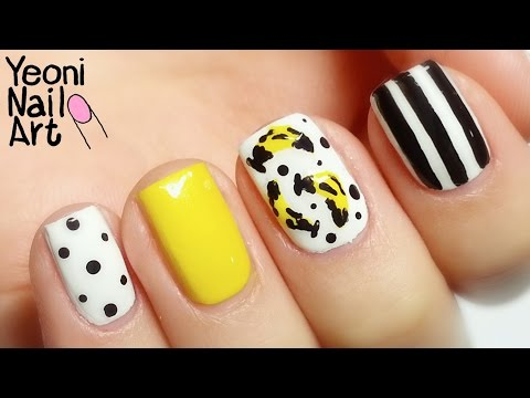 [바나나 네일아트] Andy Warhol BANANA Nail Art Tutorial