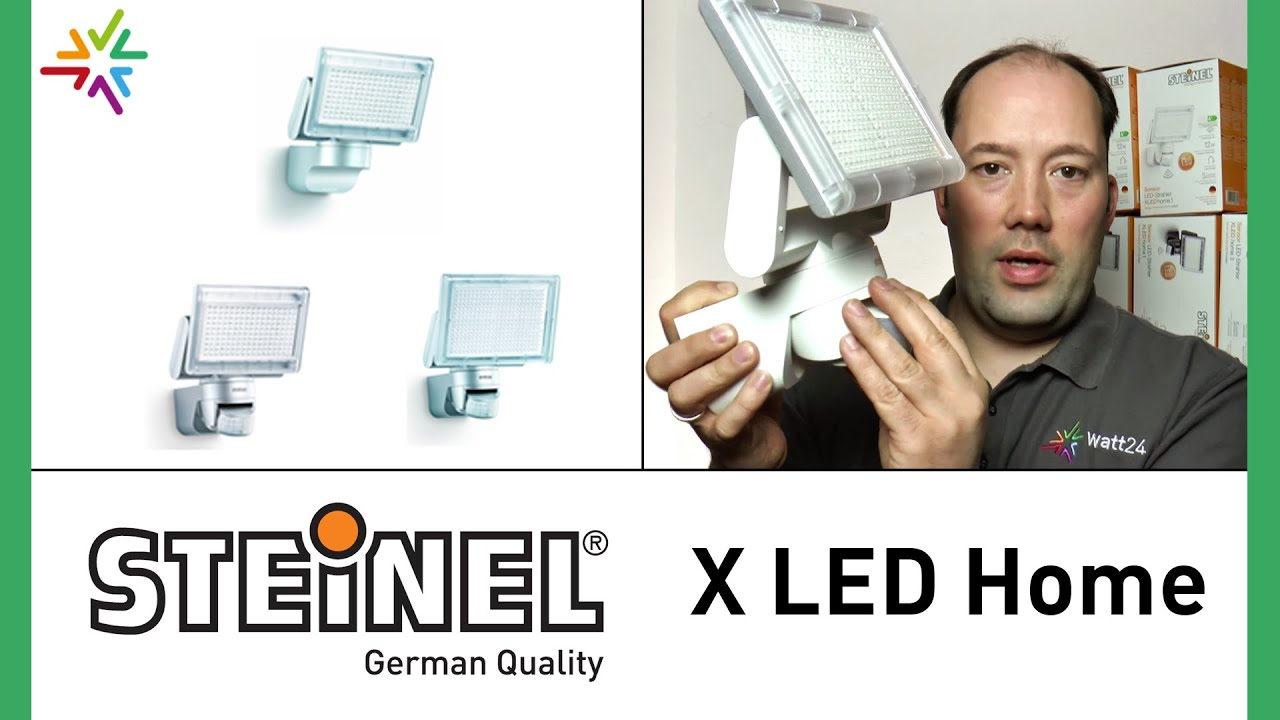 steinel xled home serie sensor led strahler watt24 video nr 11 youtube