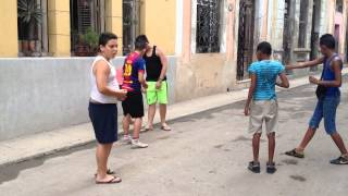 Children playing in the streets of Havana Cuba