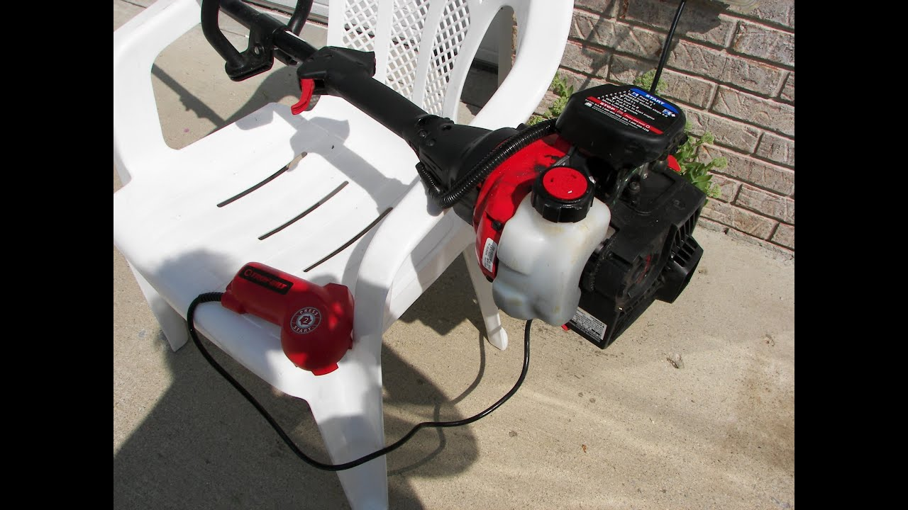 Troy Bilt Fast Start Trimmer Weed Eater How To