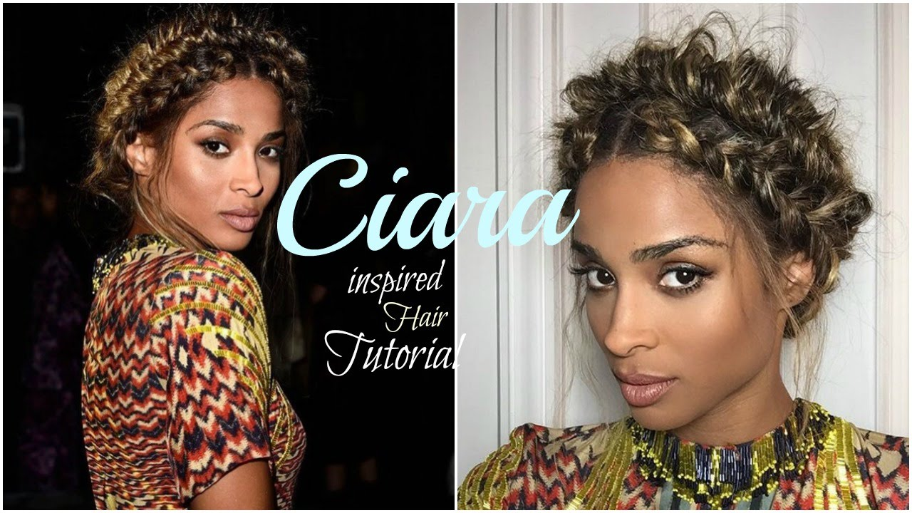 Ciara Inspired Hairstyle| Halo Braid/ Fishtail - YouTube