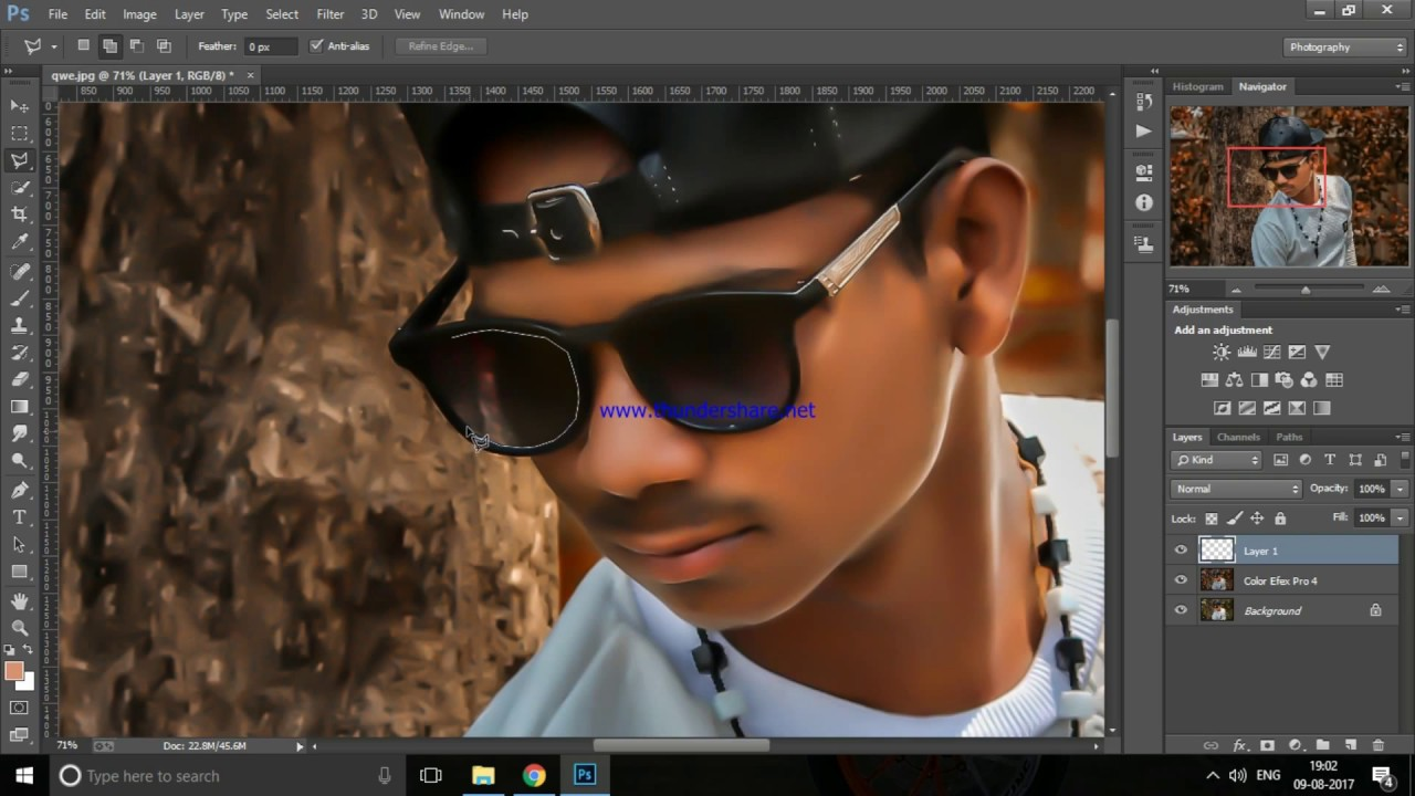 how to clean face in photoshop