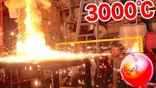 3000℃に熱した鉄球を氷の上に置いてみた! thumbnail