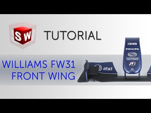 Formula 1 front wing (Williams FW-31) - SolidWorks tutorial