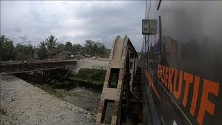 Geoffs Rail View Indonesia ;  Purwokerto to Kebumen 4 of 5 real time speed