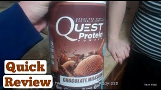 QUEST CHOCOLATE PROTEIN SHAKE - Weight Loss Journey Day 422