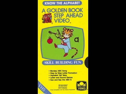 Golden Step Ahead Video  Know the Alphabet 1986 VHS
