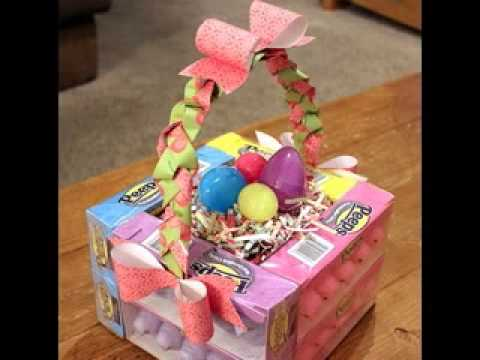 Homemade easter basket decorating ideas youtube negle