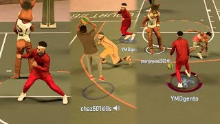NBA 2k17 MyPARK - These 10 Year Old Randoms Must Be Stopped! Multiple Ankle Breakers in One Play!