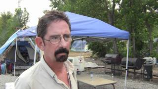 Robert gives a very descriptive account of living homeless in a tent city.
