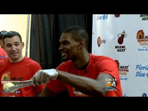 Miami Heat Dish Out Meals In Thanksgiving Celebration