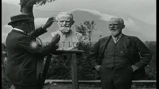 Джордж Бернард Шоу посещает дом князя Паоло Трубецкого.