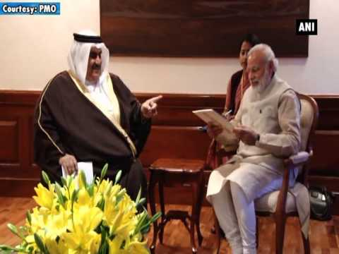 Bahrain Foreign Minister meets Indian PM Modi in New Delhi