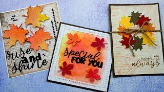 InLoveartshop Projects Share-Autumn and Maple Leaf Elements Cutting Dies and Stamps #crafts#DIYcard