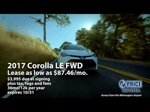 Lease a Corolla LE FWD for as Low as $87.46/mo. at Price Toyota