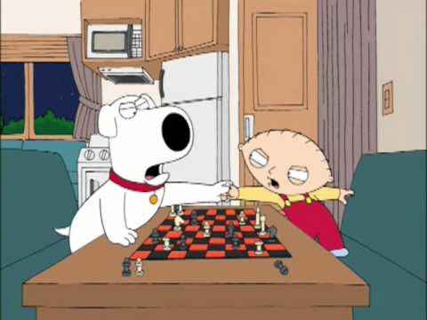 family guy brian and stewie playing chess youtube
