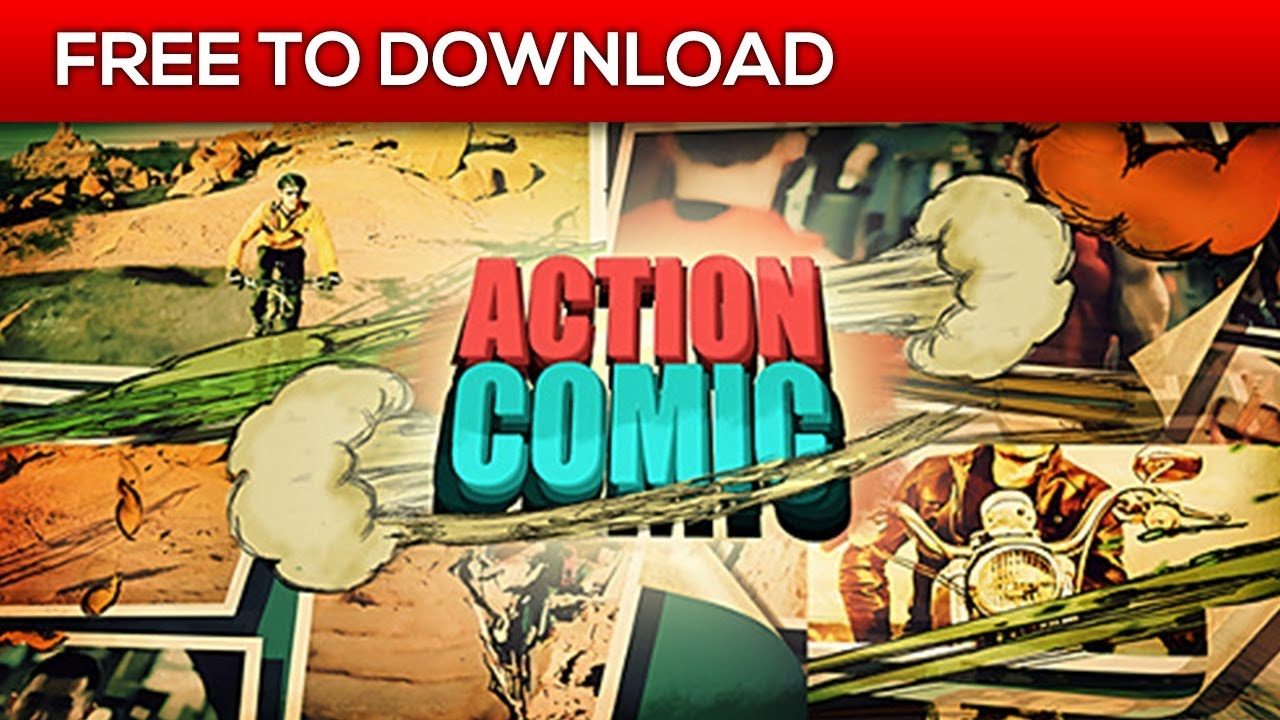 Action Comic After Effects Template Free