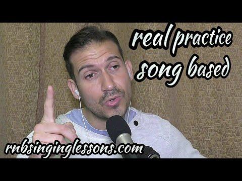 40min Singing Practice - Song Based - High E's, Falsetto, Low Notes, Runs, Vibrato