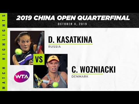 Daria Kasatkina vs. Caroline Wozniacki | 2019 China Open Quarterfinal | WTA Highlights