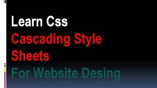 CSS Tutorial - What Is CSS Pat 1 IN Hindi