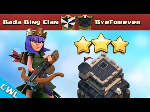 CWL: BEST TH9 3 Star Attacks You Ever WIll See | Bada Bing Clan vs ByeForever | Clash of Clans