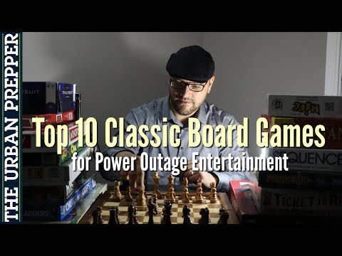 Top 10 Classic Board Games (Power Outage Entertainment)