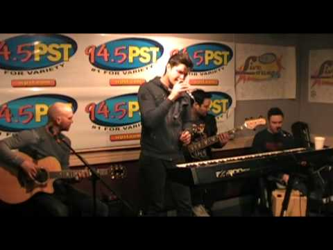 """The Script performs """"The Man Who Can't Be Moved"""" in the PST LIve Lounge"""