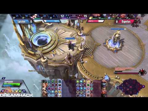 Dignitas vs Epsilon - четвертьфинал квали №1 на DreamHack [Heroes of the Storm]