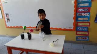 Experimento  para niños de inicial