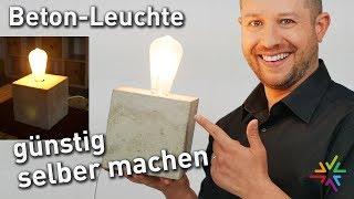 Betonleuchte günstig selber machen | Video Anleitung für Betonlampe | DIY | Bastelspaß mit Licht
