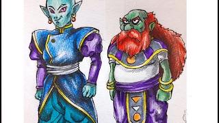How to Draw Sidra and Rou (Dragon Ball Super) Universe 9