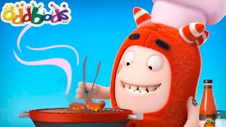BBQ & Cooking For Their Friends | Oddbods | Funny Cartoon