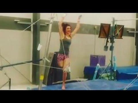 Beautiful Amputee Girl Gymnastics