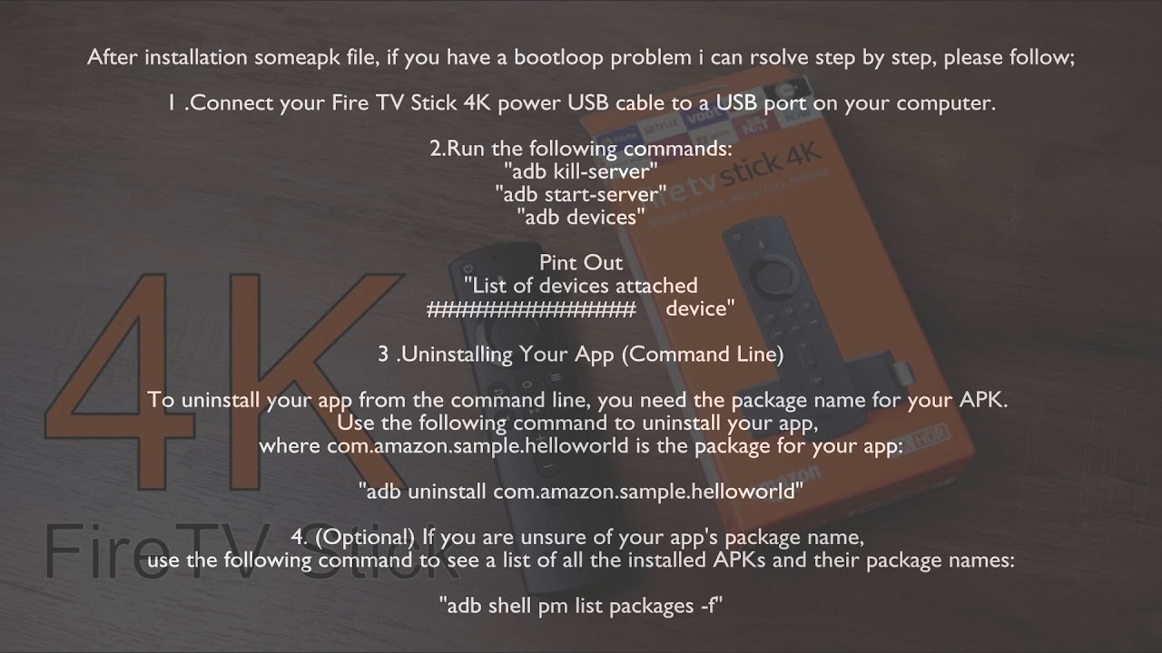 Fire TV Stick 4k Bootloop issue fixed