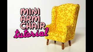 Miniature Upholstered Arm Chair with Free Template (Subscriber Requested)