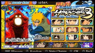 Naruto Shippuden Ultimate Ninja HEROES 3  - LISTA TODOS PERSONAGENS / ALL  CHARACTERS + INTRO