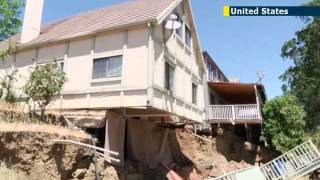 Eight California homes in Lake County hit by sinkholes