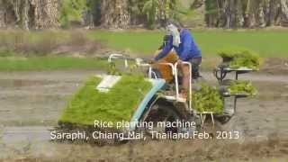 What to see on a trip to Thailand. Rice planting machine. (Panasonic Lumix TZ30/SV20) HD