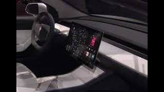 Tesla Model 3 screen great.  anchoring one side stolen often video no wifi/ipad backup