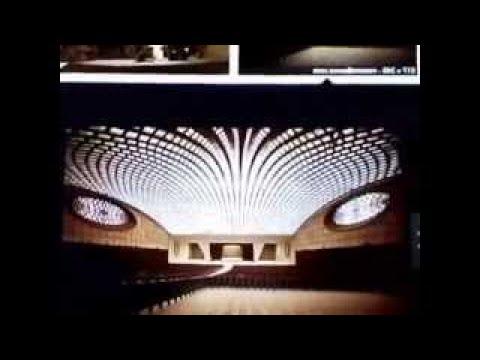 Vaticans Nervi Hall Exterior vesves Interior vesves Fazzini Sculpture Are Model Of A Serpent Heads