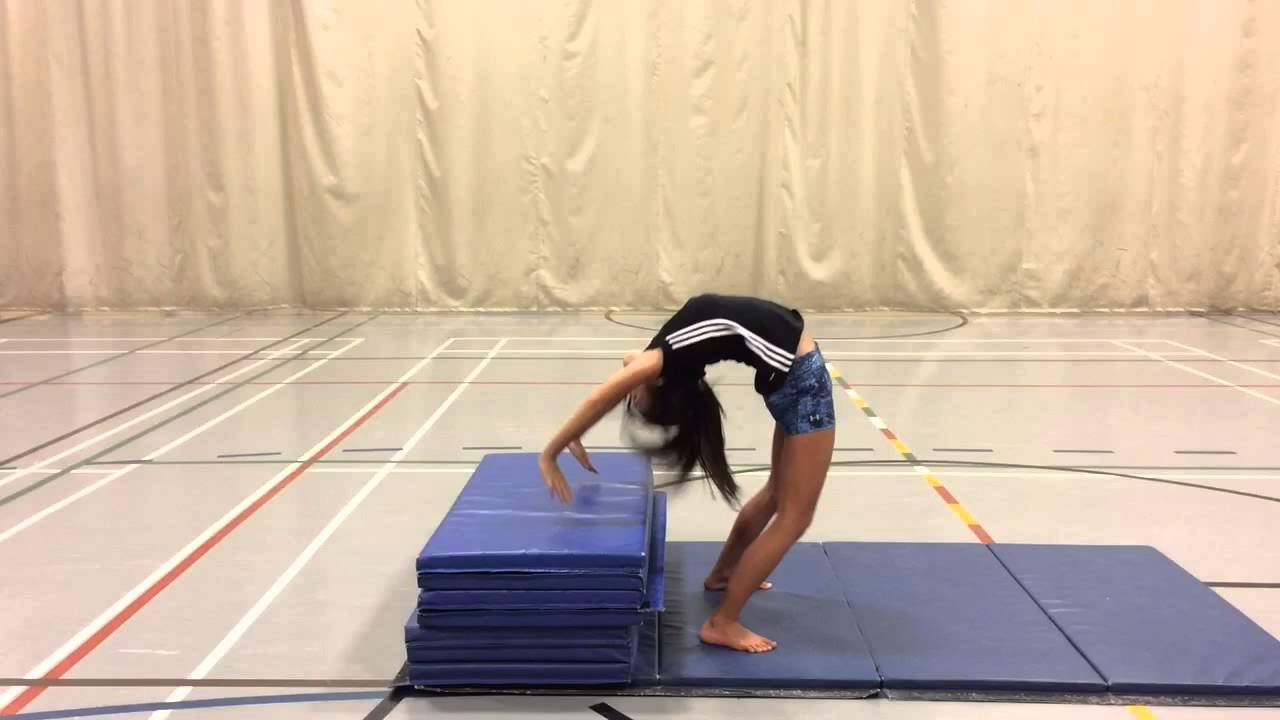 Back bend and kick over!!! - YouTube