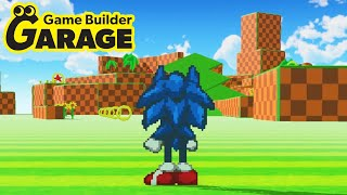 Sonic 3D Recreated in Game Builder Garage