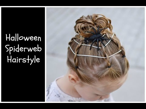 Spiderweb And Spider Halloween Toddler Hairstyle