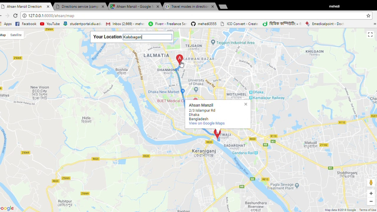 BD Tour Home Google Chrome 20 Mar 18 2 52 59 AM - YouTube Google Maps With Comp Directions on