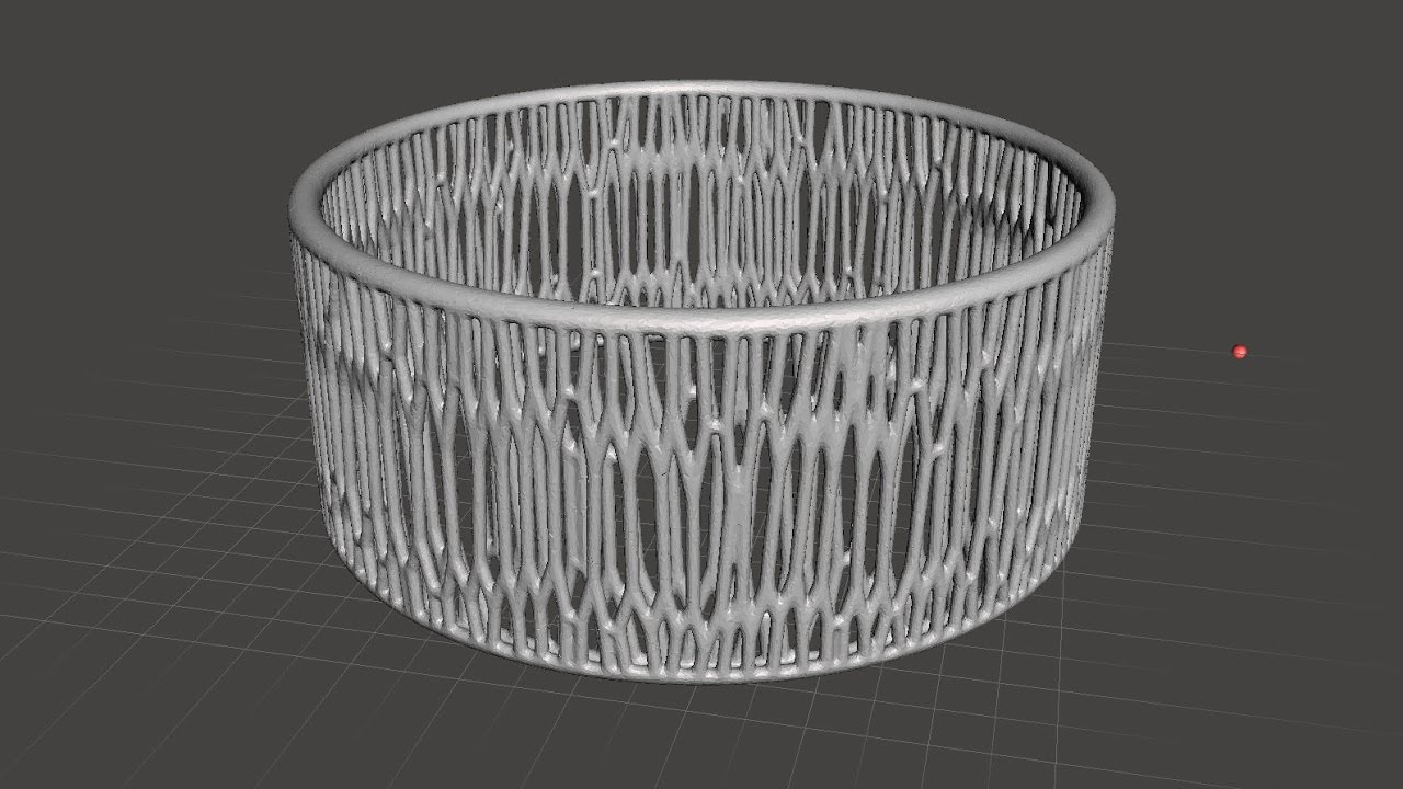 Meshmixer: Voronoi Bracelet