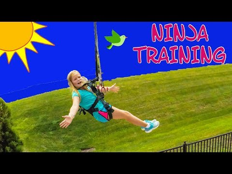 ASSISTANT Ninja Training Ropes Course and Zip Line TheEngineeringFamily Funny Ninja Training Video