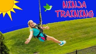 ASSISTANT Ninja Training Ropes Course and Zip Lines Outdoor Activity
