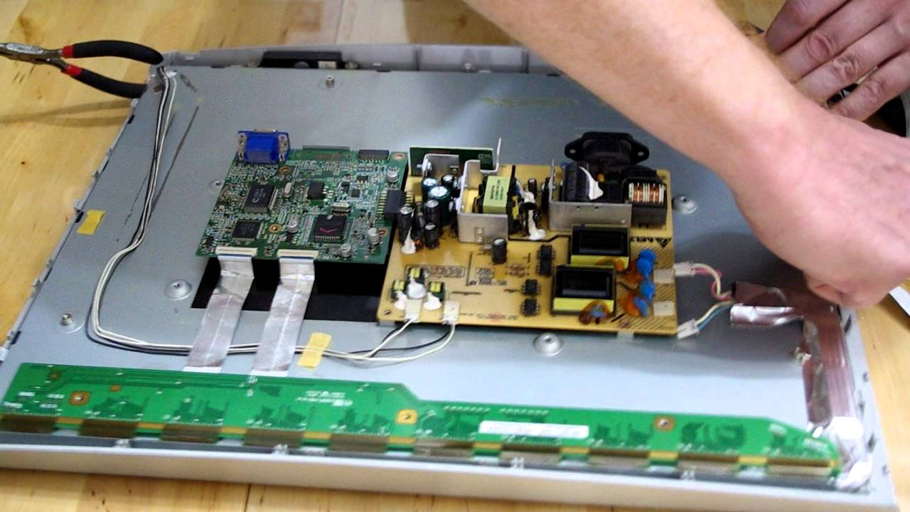 How to build a touchscreen from monitor with broken back light