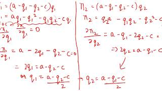 Cournot Duopoly Model - Nash Equilibrium