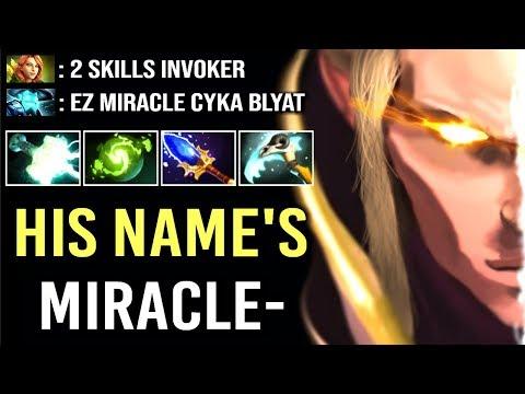 Dont Trash Talk vs Miracle- Invoker GOD Epic Gameplay Comeback WTF Dota 2